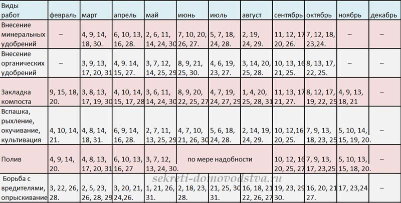 Лунный календарь садовода и огородника на 2019 год для Сибири и Урала
